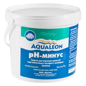 Aqualeon pH-минус в гранулах, 4 кг